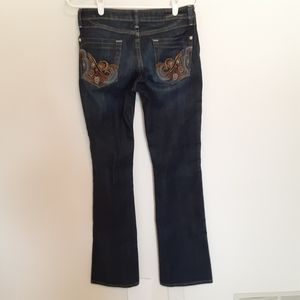 NWOT ANONAME BOOT CUT EMBROIDERED POCKETS JEANS